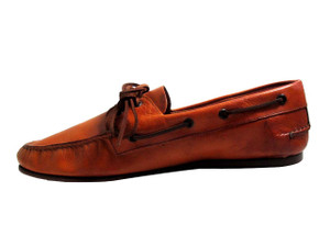Davinci Men's Slip-On Driving Moc M3003 Made By Boemos, Tan, Red
