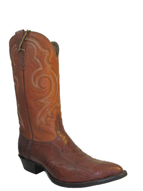 Nocona Men's Western Ostrich Leg  Cowboy Boots1087 Tan