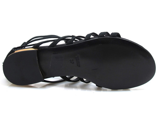 Albano 3084 Velour Women's Flat Dressy Strappy Glittered Sandal