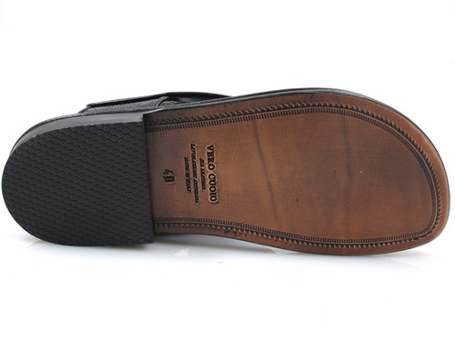 Davinci 2013 Ostrich Print Men's Italian Push In Toe Ring Sandal