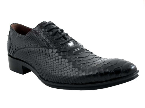 Jo Ghost 424 python lace up shoes