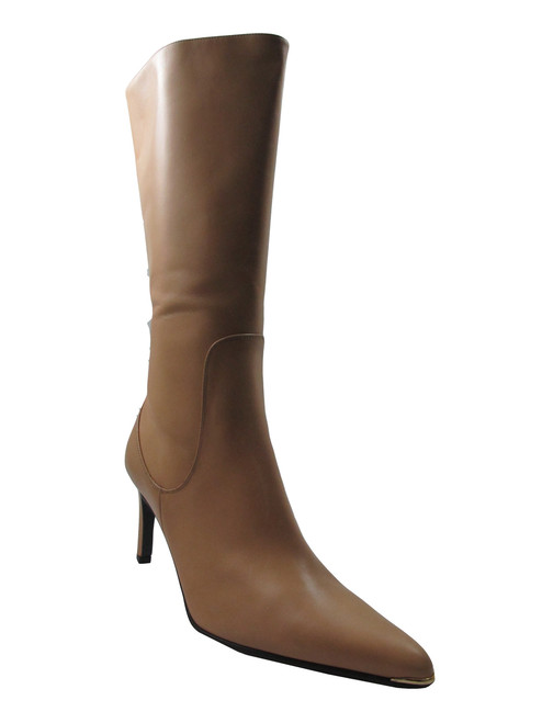 DA'VINCI 4064 Women's Italian Leather Dress/Casual Mid Heel Pointy Toe Boot