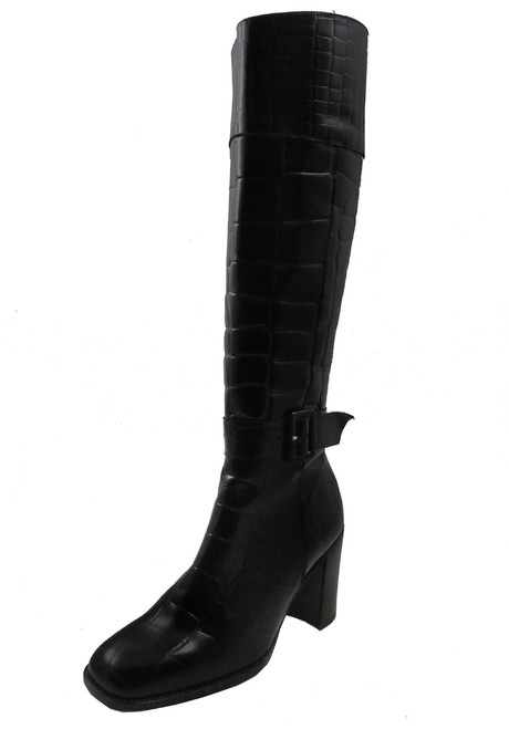 DAVINCI 1009 Womens Italian Ankle Boot Leather Dress//Casual Squre Toe and Heel