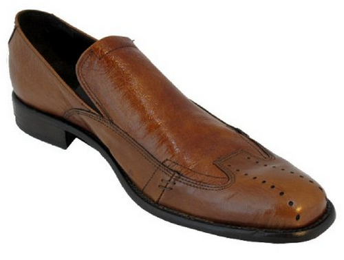 Tossi 3370 Men's Italian Dress-Casual Slip on Round Toe Shoes