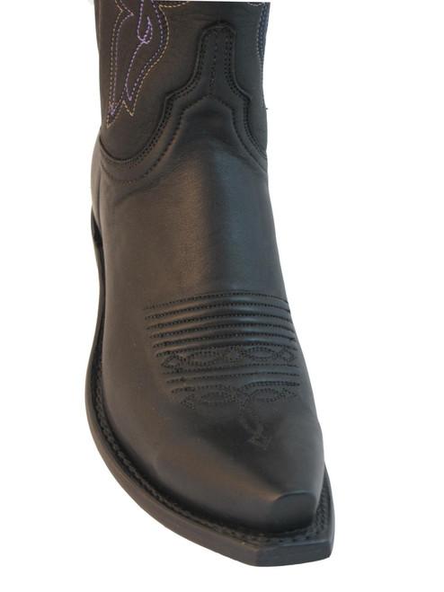 Women's Lucchese 1883 NV4001.S54 Cowboy boots Black Jersey Calf