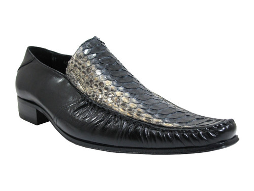 Davinci snake skin slip on shoes
