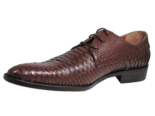 Toscana Italian Designer Men's 2463 Snake skin Lace Up Shoes