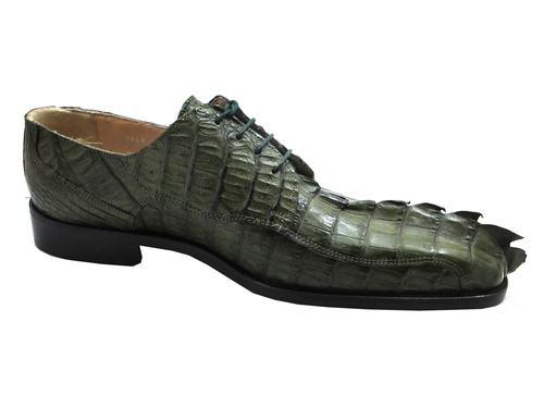 Fenix Men's alligator lace up Shoes Green 3248