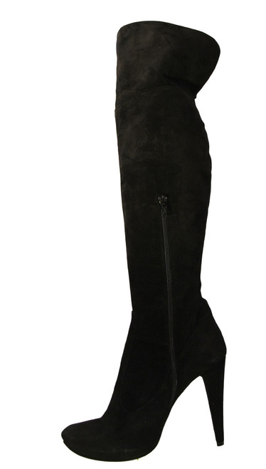 Giardino Principi Women's 4167 Italian  High Heel Party Suede over the Knee boot