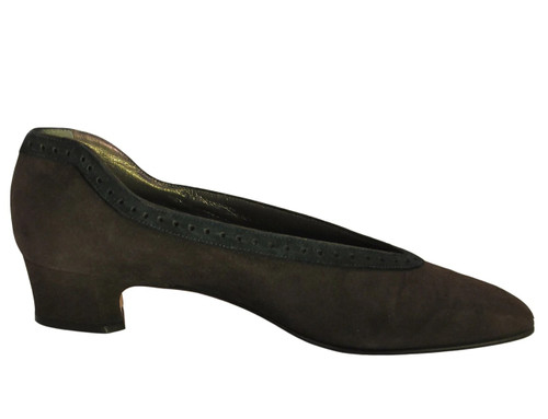 Mima Venezia Italian 623 Women's Low Heel Suede Shoes