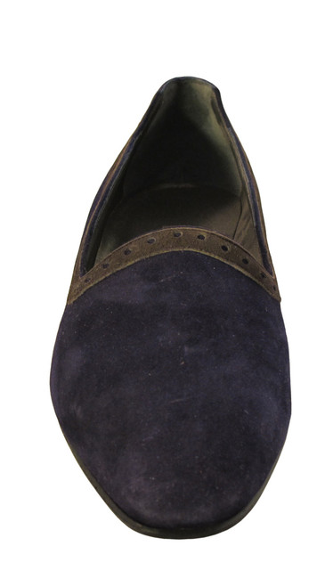 Mima Venezia Women's Italian 630 Slip on Shoes Low Heel Suede Purple/Grey