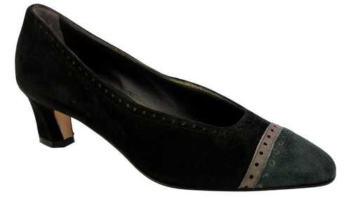 Women's Mima Venezia 712 two tone soft suede pump