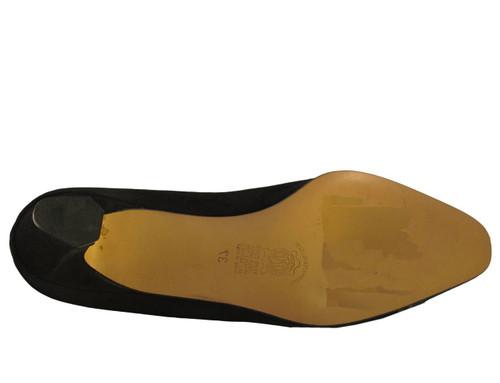 Mima Venezia Italian Women's 712 Low Heel Suede with Two Tone Pump