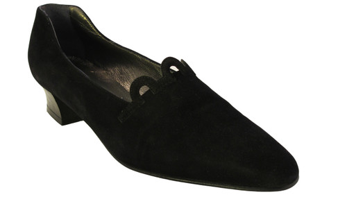Mima Venezia 611 Women's Italian Low Heel Shoes Black