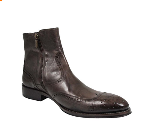 Redwood Men's Italian ankle wingtip Boot 6919 Brown