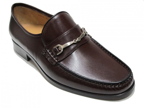 Davinci Men's Slip on Loafer Dressy Shoes 9824 Black and Brown