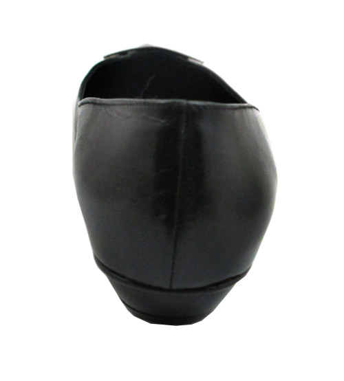 Davinci Women's Italian Dressy  Flat By Oxmox Black Patent 300