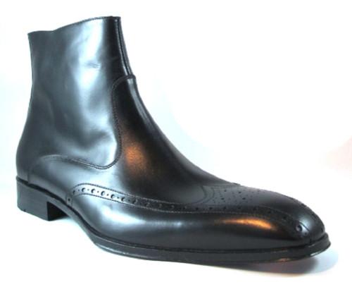Doucal's 10157 Men's Italian Dressy Ankle Boot Black