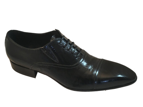 Doucal's 10206 Black Patent Dressy Shoes