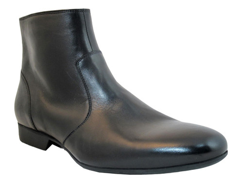 Doucals men's Italian Soft Leather Classic Dressy Boots 1110 Black