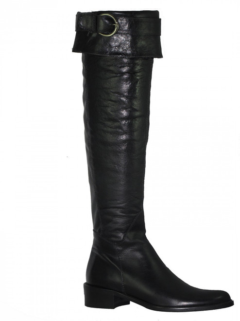 Lamica Women's Knee High/over the knee Italian Boot I Ride Available Black