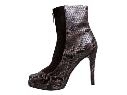 Albano 875 Women's Peep Toe High Heel Python Ankle Boots, inside