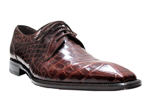 Mezlan Men's 3093 Luciano Genuine Alligator Lace up Shoes