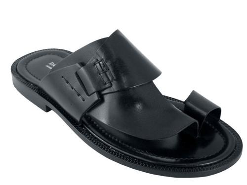 Men's Davinci Italian Leather Push Toe Sandals 1099