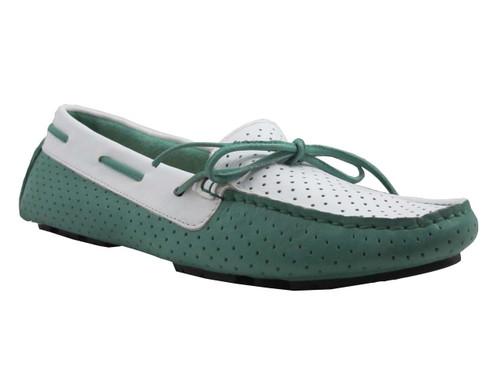 Davinci Women's 6023 Italian Moccasin two tone Flat Shoes