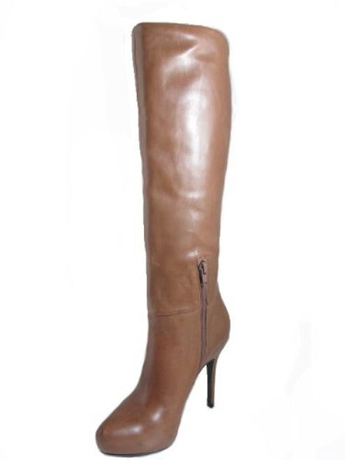 Women's Barachini 18568 Dressy High Heel Italian Boot in Tan