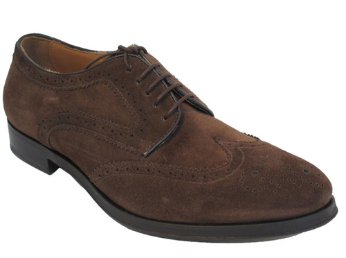 Men's Davinci Leather Lace up Suede Dress/Casual Shoes By Doucals 1038