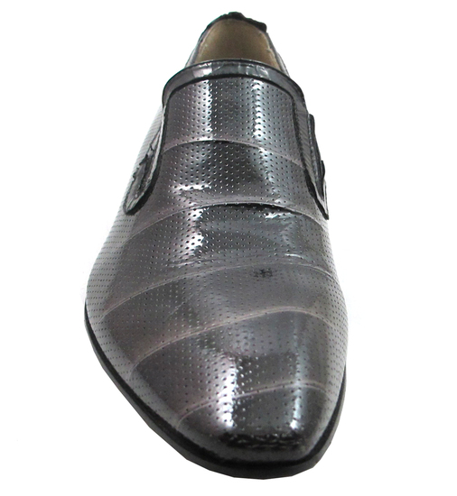 Carlos Ventura 1143 Men's Italian Dressy Evening Perforated Leather Shoes Black