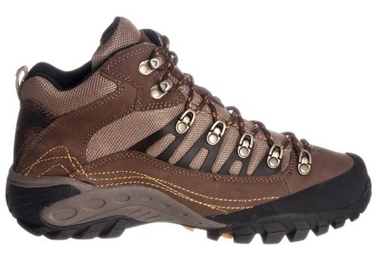Men's Wolverine Compass Lace Up WP Hiking Boots Brown