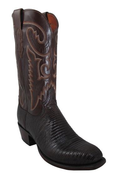 Men's Lucchese T6193.S4 Cigar Lizard/Antique Brown Buffalo Boots
