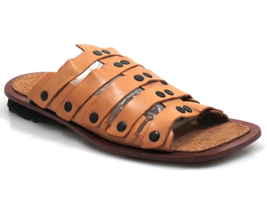 Davinci 10745 Men's Leather Strappy Slip On Gladiator Sandals