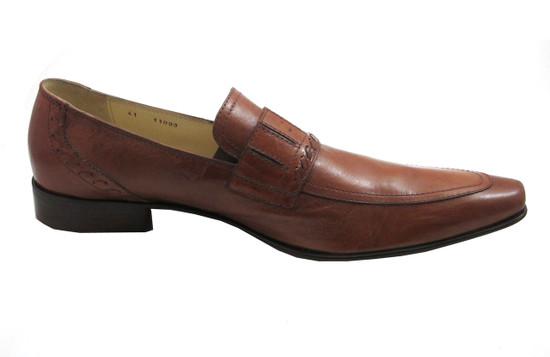 Giampiero Ncola 11093 Men's Italian Loafers, Brown