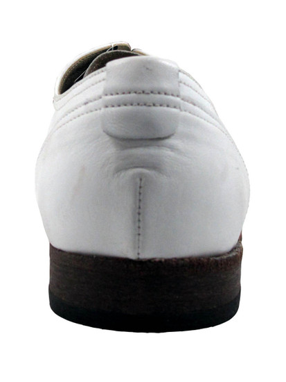 Davinci Men's 9930 dressy Italian Leather Lace up Oxford Shoes White