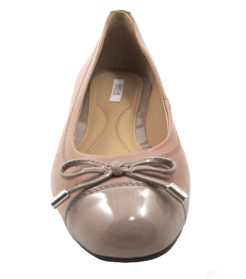 Geox Respira Donna Lola A - Patent Leather Flat Ballet shoes in Beige or Black