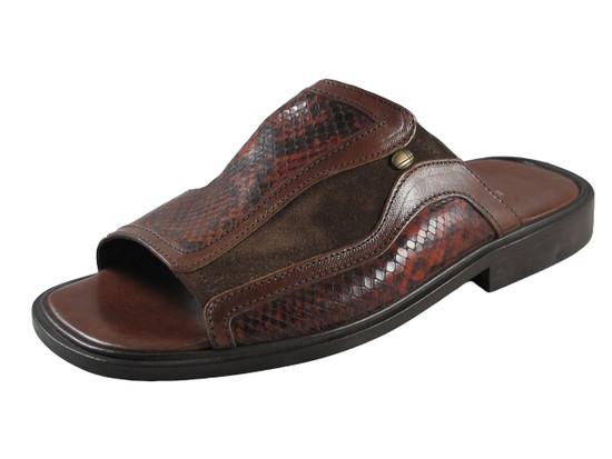 Davinci 7349 Men's Italian Leather Slipper Sandal