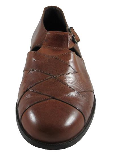 Davinci 5675 Men's Italian Leather Closed Toe Sandals, Brown