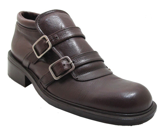 Gatsby Men's 22304 double strap slip on men's italian shoes in bordo