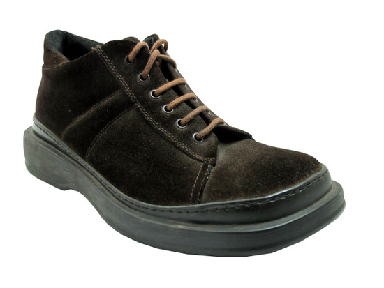 One Trackers Men's 2347 Sneaker Boot Suede, Brown and Black