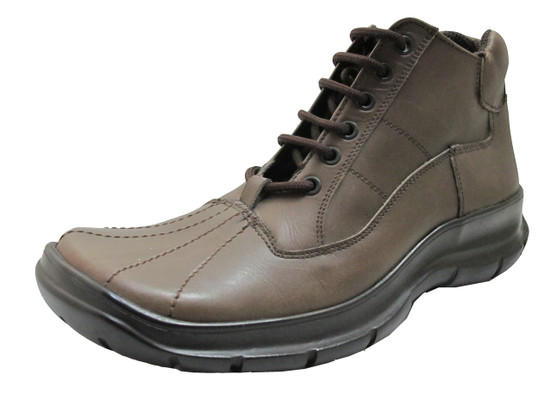 Boemos Men's 1619 Milord Square Toe Italian Leather Lace Up Sneakers in Olive
