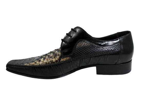 Men's Davinci 39195 Italian lace up multi color snake skin shoes