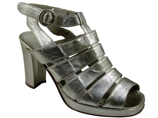 Davinci 474 Women's Italian Mid Heel Strappy Sandals Light Gold