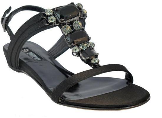 Barachini Designer 15205 Women Luxurious Italian Dressy Flat Sandals