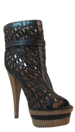 Women's Barachini 15580 Italian Dressy Peep Toe Ankle Booties