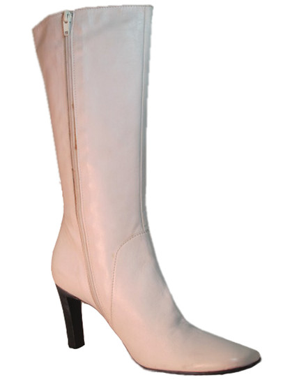 4163 women mid calf boot white