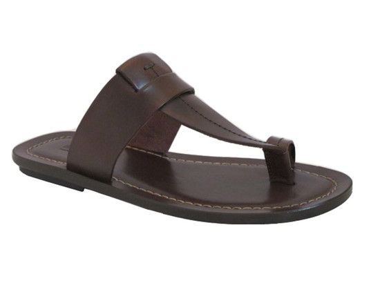 Davinci 3905 Italian Push In Toe Sandals Brown