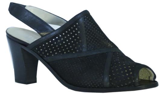 Women Italian Fashion Sandals 1391 Black